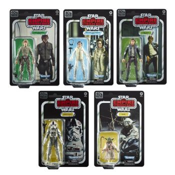 Star Wars Black Series 40th Anniversary Empire Strikes Back Wave 1 Set of 5 - Pay in Full